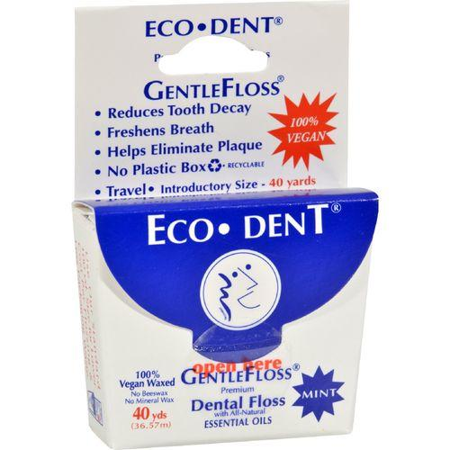 Eco-Dent Gentle Floss - Mint 40 - Case of 6 - 40 Yds