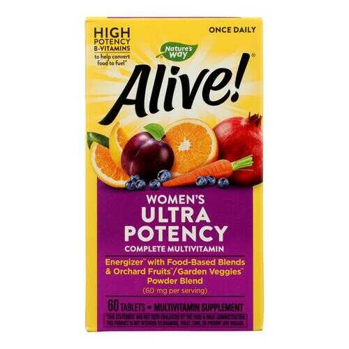 Nature's Way - Alive! Once Daily Women's Multi-Vitamin - Ultra Potency - 60 Tablets