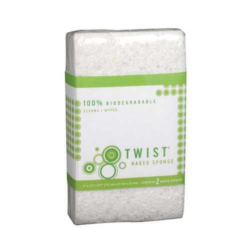 Twist Naked Sponge - Medium - Case of 6 - 2 Count