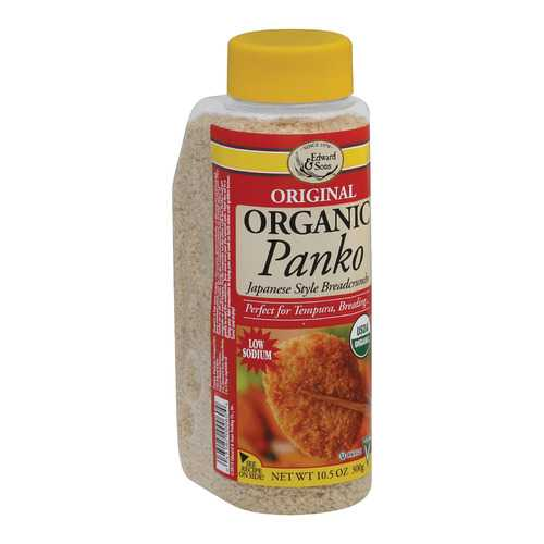 Edward and Sons Organic Panko Breadcrumbs - Case of 6 - 10.5 oz.