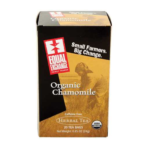 Equal Exchange Organic Chamomile Tea - Chamomile Tea - Case of 6 - 20 Bags