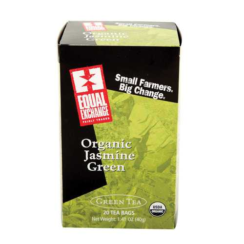 Equal Exchange Organic Jasmine Green Tea - Jasmine - Case of 6 - 20 Bags