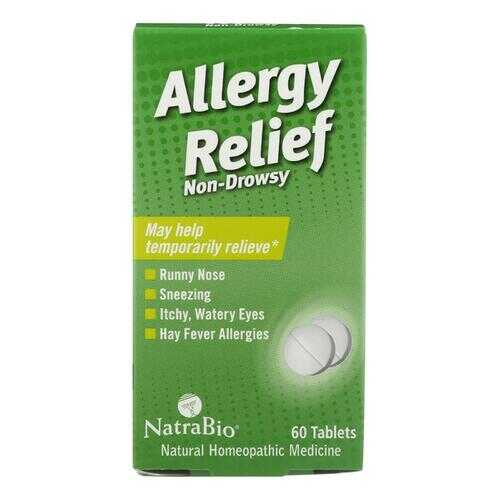 NatraBio Allergy Relief Non-Drowsy - 60 Tablets