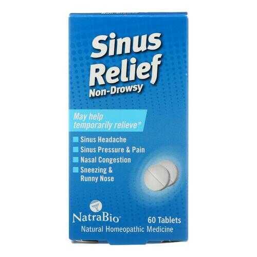 NatraBio Sinus Relief Non-Drowsy - 60 Tablets