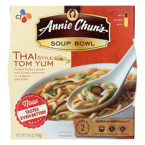 Annie Chun's Thai Tom Yum Soup Bowl - Case of 6 - 6 oz.