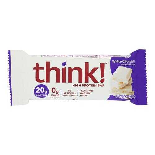 Think Products Thin Bar - White Chocolate - Case of 10 - 2.1 oz