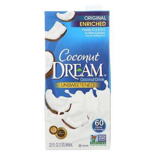 Coconut Dream Enriched Coconut Drink - Original Unsweetened - Case of 12 - 32 Fl oz.