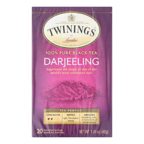 Twining's Tea Black Tea - Darjeeling - Case of 6 - 20 Bags