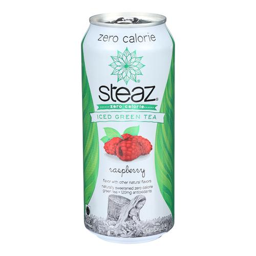 Steaz Zero Calorie Green Tea - Raspberry - Case of 12 - 16 Fl oz.