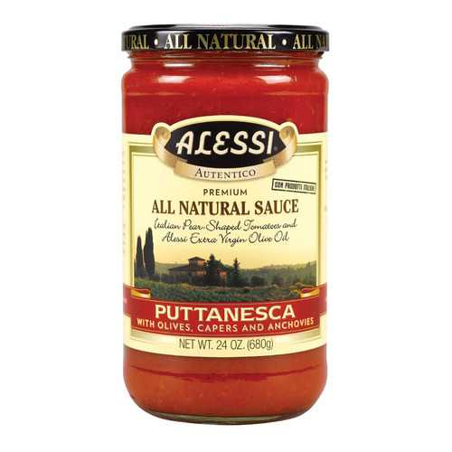Alessi Pasta Sauce - Puttanesca - Case of 6 - 24 oz