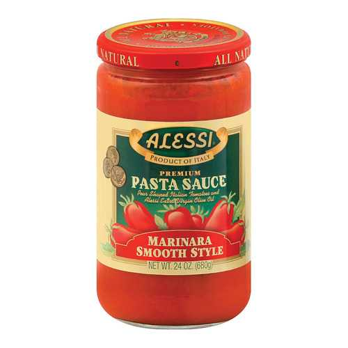 Alessi Pasta Sauce - Smooth Marinara - Case of 6 - 24 oz
