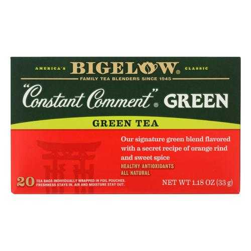 Bigelow Constant Comment Bag Tea Green  - Case of 6 - 20 BAG