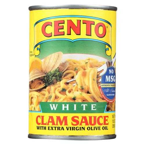 Cento Pasta Sauce - Cento White Clam Sauce - Case of 12 - 10.5 oz.