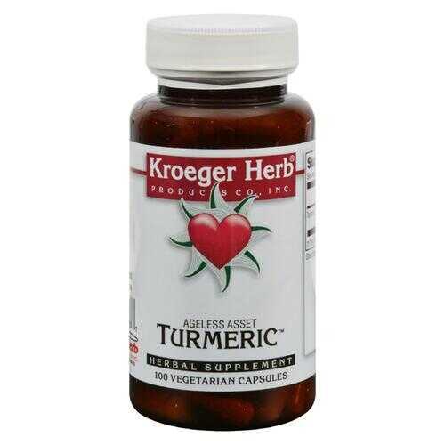 Kroeger Herb Turmeric - 100 Vegetarian Capsules