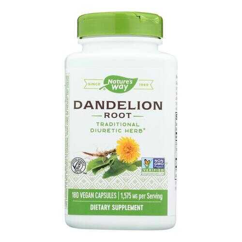Nature's Way - Dandelion Root - 180 Vegetarian Capsules