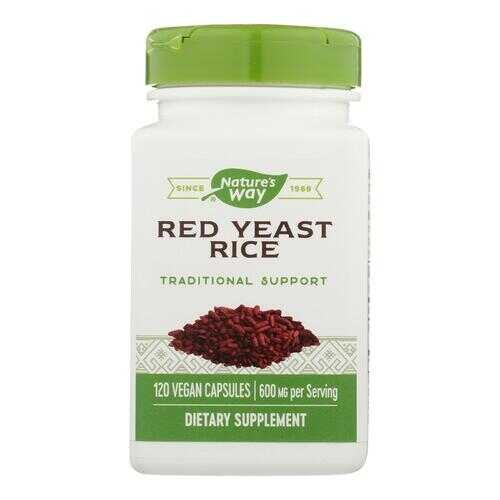 Nature's Way - Red Yeast Rice - 120 Vegetarian Capsules