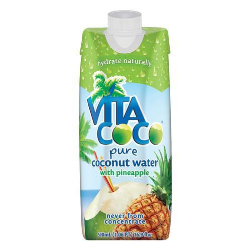 Vita Coco Coconut Water - Pineapple - Case of 12 - 500 ml