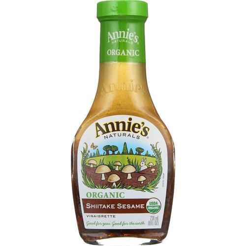 Annie's Naturals Vinaigrette Shiitake and Sesame - Case of 6 - 8 fl oz.