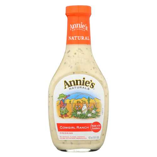 Annie's Naturals Organic Dressing - Cowgirl Ranch - Case of 6 - 16 fl oz