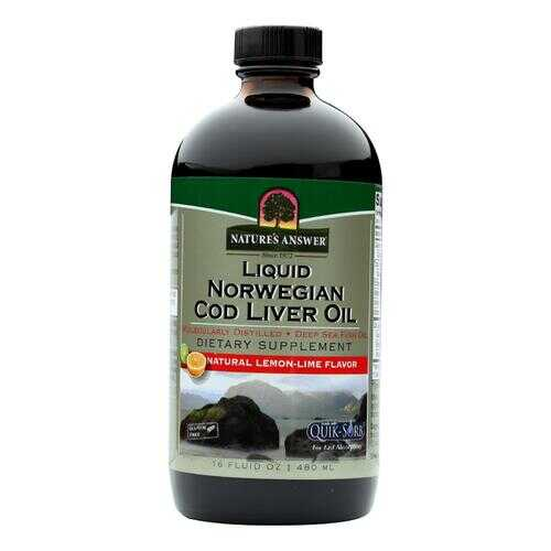 Nature's Answer - Liquid Norwegian Cod Liver Oil - 16 fl oz