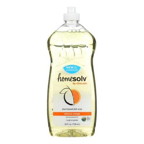 CitraSolv Homesolv CitraDish Natural Dish Soap - Case of 12 - Valencia Orange - 25 oz