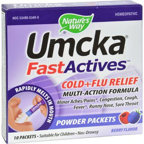 Nature's Way Umcka FastActives Cold Plus Flu Relief Berry - 10 Packets