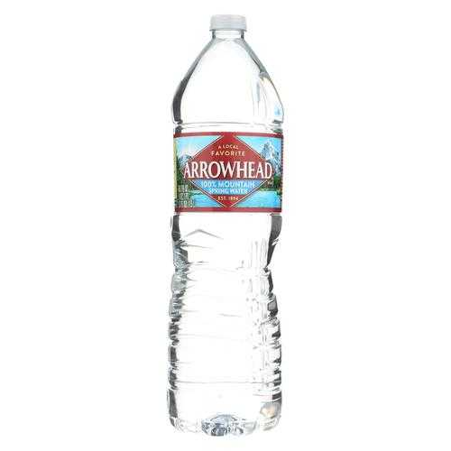Arrowhead Spring Water - Water Spring Mountain - Case of 12 - 1.5 Liter