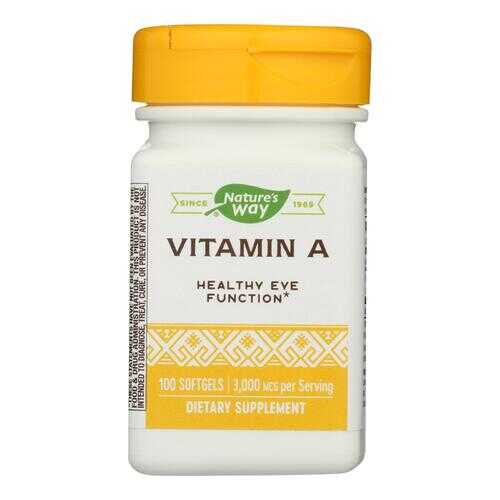 Nature's Way - Vitamin A - 10000 IU - 100 Softgels