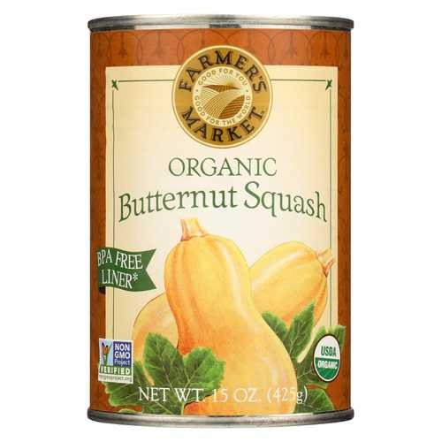 Farmer's Market Organic Butternut - Squash - Case of 12 - 15 oz.