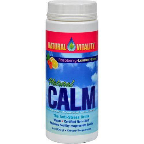 Natural Vitality Natural Magnesium Calm Raspberry-Lemon - 8 oz