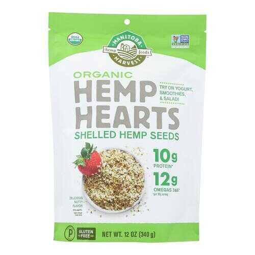 Manitoba Harvest Certified Organic Hemp Hearts Shelled Hemp Seed- Case of 6 - 12 oz