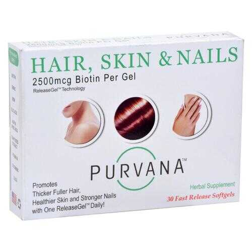 Heaven Sent Purvana Hair Skin Nails - 2500 mcg - 30 Softgels