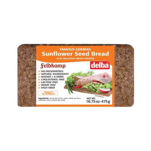 Feldkamp Bread - Sunflower Seed - Case of 12 - 17.6 oz