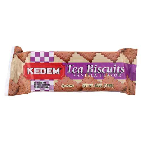Kedem Tea Biscuits - Vanilla - Case of 24 - 4.2 oz.