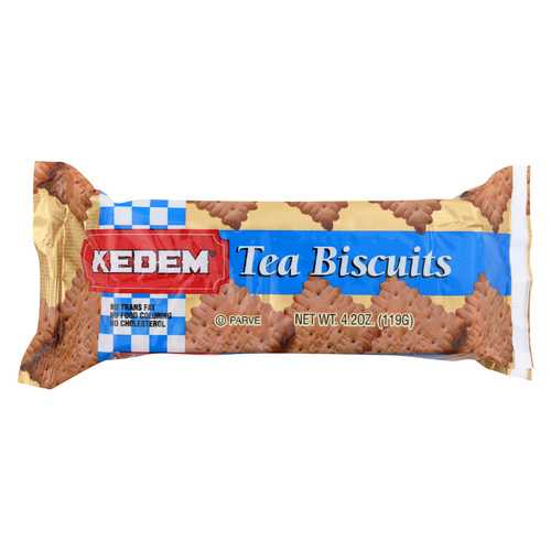 Kedem Tea Biscuits - Plain - Case of 24 - 4.2 oz.