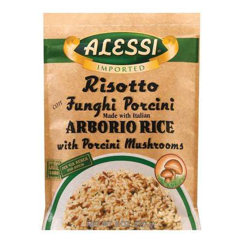 Alessi Funghi Risotto - Porcini Mushrooms - Case of 6 - 8 oz.