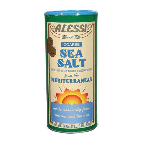 Alessi Mediterranean Sea Salt - Coarse - Case of 6 - 24 oz.