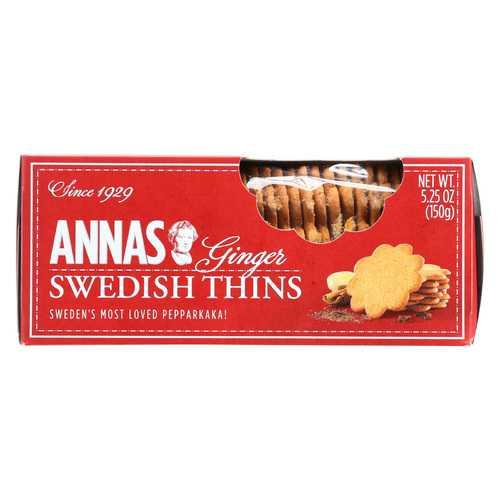 Annas Ginger Thins - Original - Case of 12 - 5.25 oz.