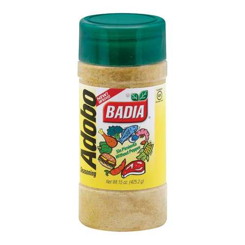 Badia Spices Adobo Seasoning Without Pepper - Case of 12 - 15 oz.