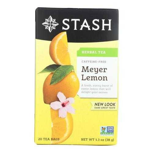 Stash Tea - Tea Herbal Meyer Lemon - Case of 6 - 20 CT