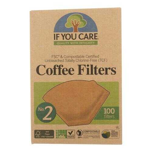 If You Care #2 Cone Coffee Filters - Brown - 100 Count