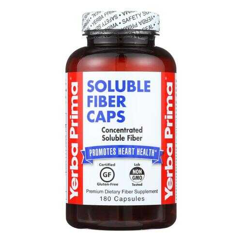 Yerba Prima Soluble Fiber Caps - 625 mg - 180 Capsules