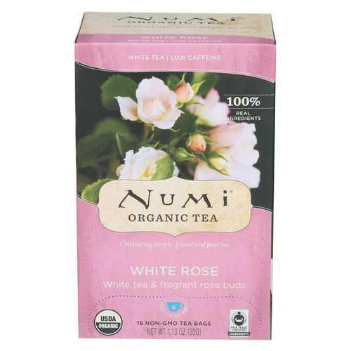 Numi Tea White Tea - White Rose - Case of 6 - 16 Bags