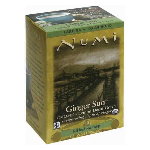 Numi Tea Organic Tea - Decaf Ginger Lemon - Case of 6 - 16 Bags