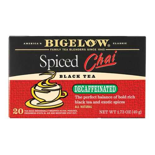 Bigelow Tea Tea - Decaf - Chai Spiced - Case of 6 - 20 BAG