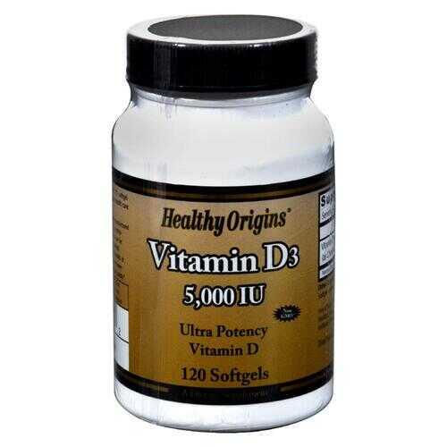 Healthy Origins Vitamin D3 - 5000 IU - 120 Softgels