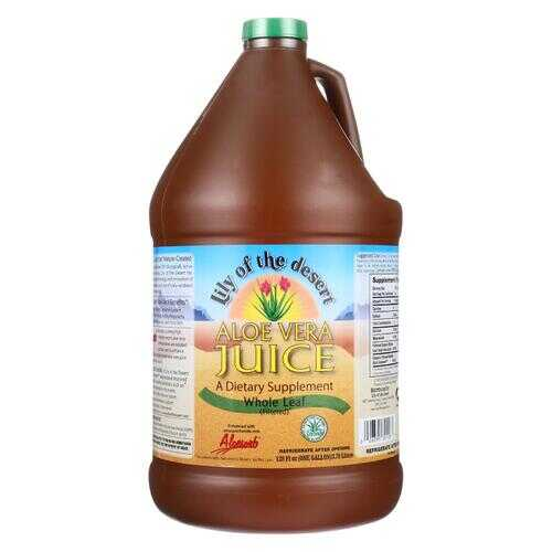 Lily of The Desert Organic Whole Leaf Aloe Vera Juice - Case of 4 - 1 GAL