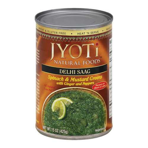 Jyoti Cuisine India Delhi Saag - Case of 12 - 15 oz.