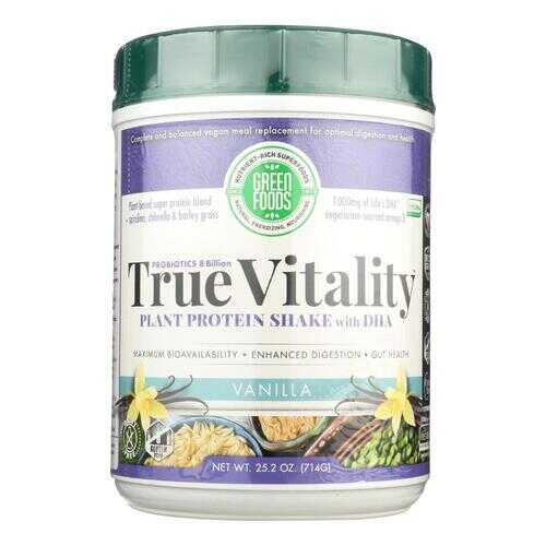 Green Foods True Vitality Plant Protein Shake In Vanilla  - 1 Each - 25.2 OZ