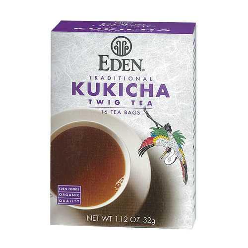 Eden Foods 100% Organic Kukicha Twig Tea - Case of 12 - 16 BAG